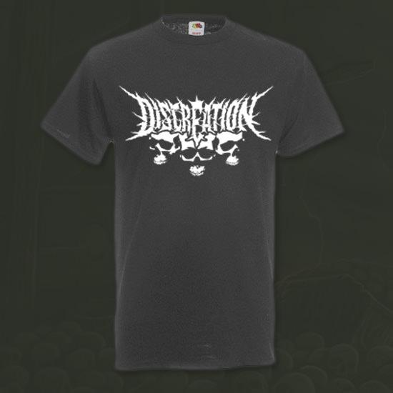 T-Shirt grau weiss