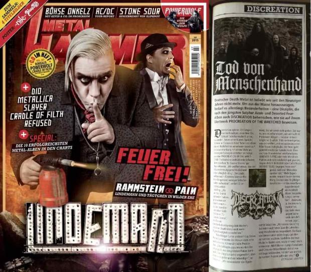 Discreation Interview im Metal Hammer